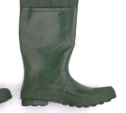 Large academy broadway rubber hip waders size 12 stream for Hip boots for fishing