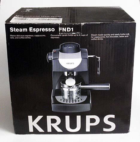 Krups FND1 Steam Espresso Machine 4 CUPS Cappuccino Latte Coffee Drinks Maker eBay