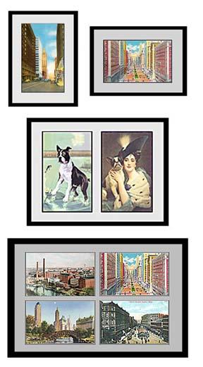 postcard display frames